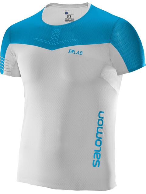 Salomon S/LAB Sense Koszulka do biegania z krótkim rękawem Mężczyźni niebieski/biały